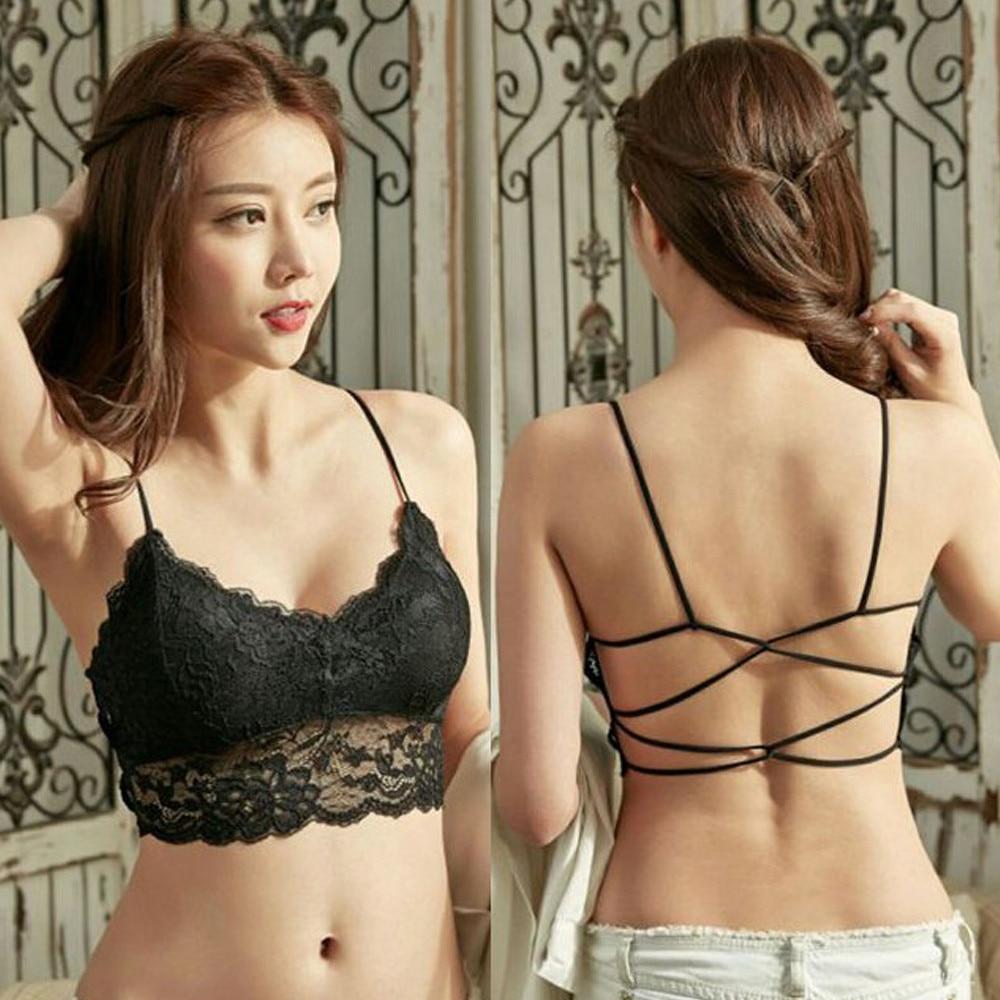 JAYCOSIN Sexy Lingerie Lace Bralette Lady Braids Vest Have As