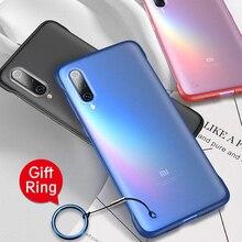 Бескаркасный чехол для телефона Xiaomi mi 9 9 t Pro mi 9 SE Прозрачный матовый чехол для Xiao mi Red mi K20 Pro акриловый чехол с кольцевым ремешком