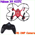 Hubsan X4 H107C дронов с HD 2-МЕГАПИКСЕЛЬНАЯ Камера 2.4 Г 4CH 6 Оси Гироскопа RC вертолет дрон Quadcopter Квадрокоптер drone