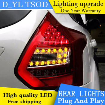 D_YL Car Styling for Ford Focus 2 Taillights 2012-2014 Focus Hatchback LED Tail Lamp Rear Lamp DRL+Brake+Park+Signal led light