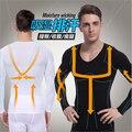 Vendas Hot New Men Slimming Cintura Shapewear Tummy Controle Shaper Do Corpo Camisa de Manga Longa