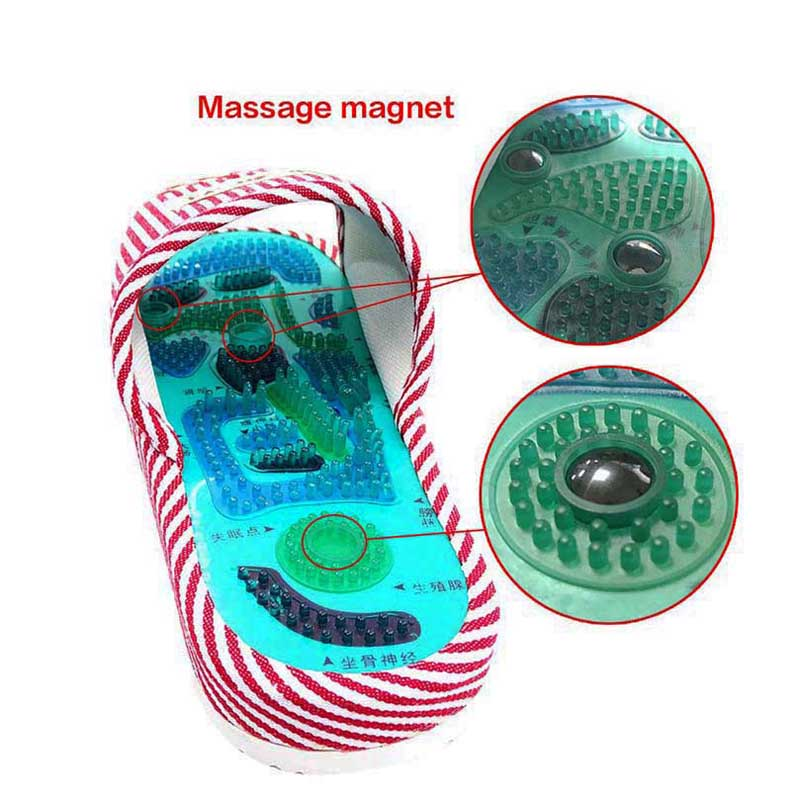 Health Care Acupuncture Shiatsu Magnet Foot Massage Slippers Health Shoe Reflexology Magnetic Sandals Feet Massager Shoes 5