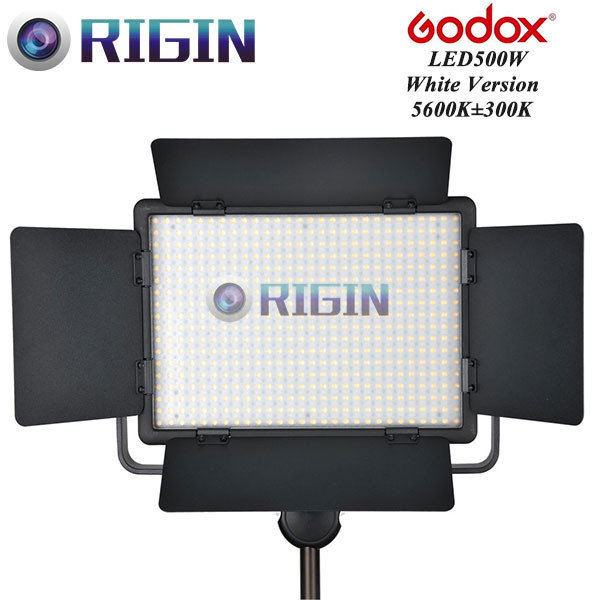 Godox Professional LED Video Light LED500W White Version 5600K New arrival Free shipping godox professional led video light led308y yellow version wireless 433mhz grouping system 308 led bulbs of high brightness