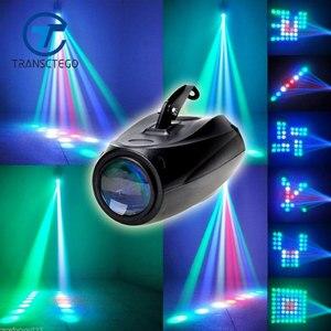 Image 1 - אורות צליל TRANSCTEGO DJ דיסקו המפלגה שלב דיסקו אור לייזר Led מנורה דפוסים מקרן בר לייזר תאורת חתונה בלון