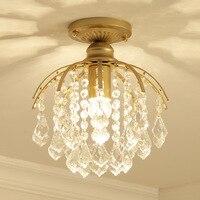 Criativo país simples de cristal abajur teto quarto corredor barra iluminação da sala banho europeu luz teto|Luzes de teto| |  -