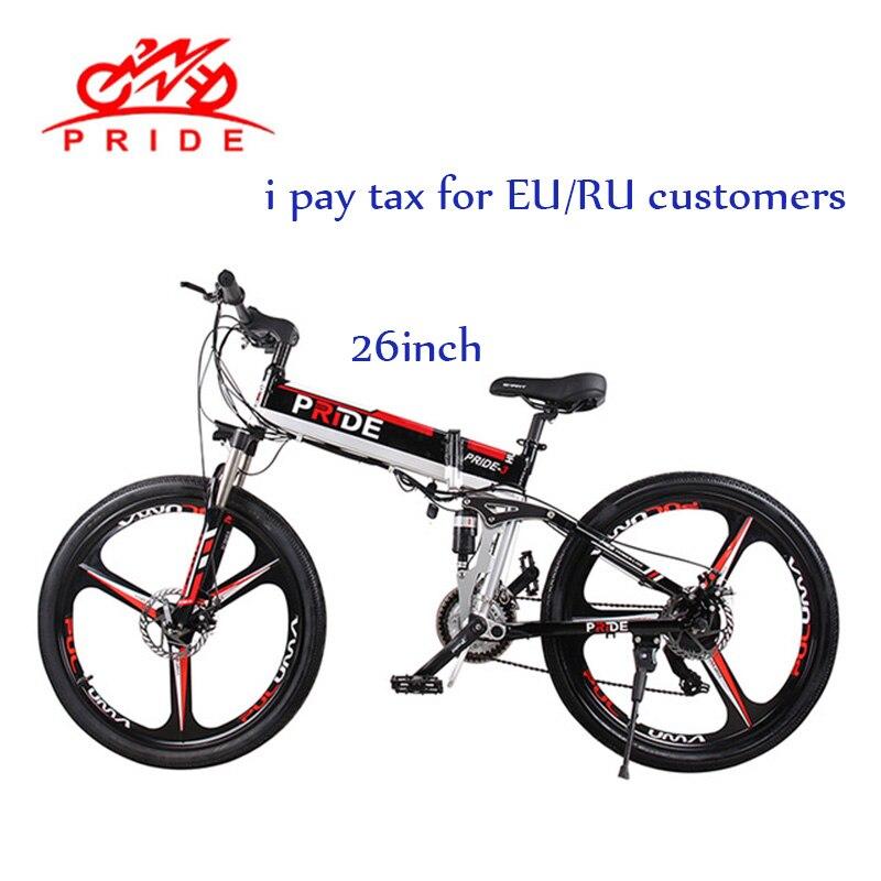 Bicicleta elétrica 26 polegada bicicleta de Alumínio Bicicleta elétrica Dobrável 500 W Poderoso 48V12. 5A Bateria ebike Montanha de Neve/praia/bicicleta da cidade e