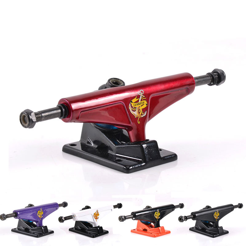 free shipping skateboard truck 5 in aluminium-magnesium alloy 0.68 kg one pair