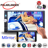 MP5 Player Stereo FM USB TF Car Radio 2DIN 7 Inch Rear Camera Touch Screen Bluetooth Mirror Link Screen Mirror For Android Phone