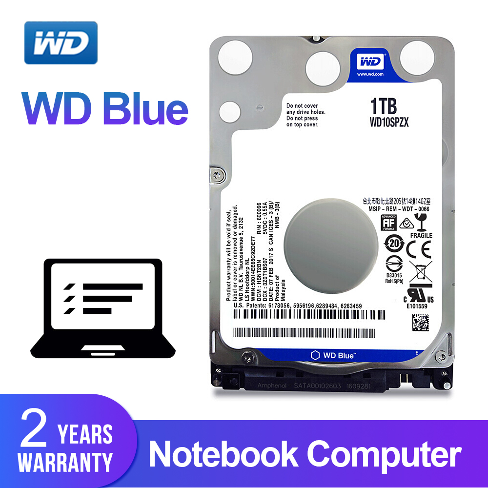 Western Digital WD Blue 1TB 2 5 Inch Notebook HDD Mobile Hard Disk Drive 5400 RPM