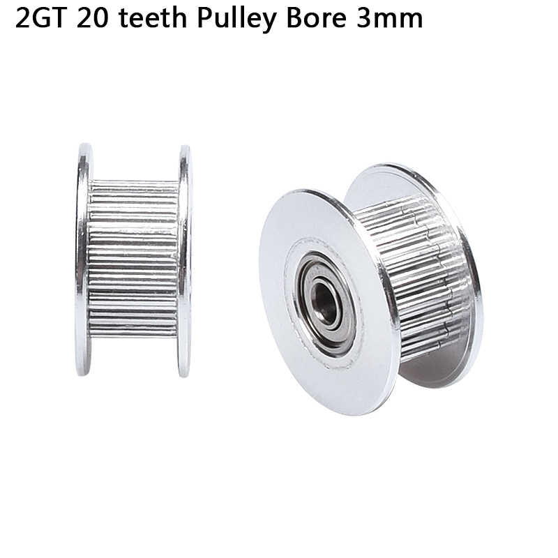 3D Printer 2GT 20 Gigi Roda Perlin Pasif Idler Pulley Roda GT2 Pulley 16/20 Tanpa Gigi Gigi Timing Gear 3D printer