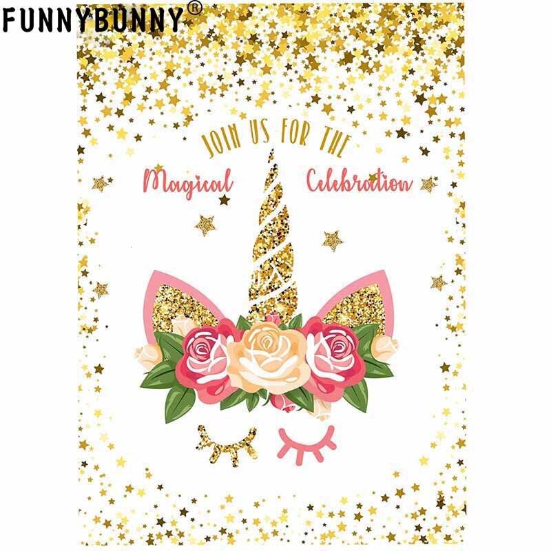 funnybunny unicorn invitations rainbow glitter unicorn birthday party invitation cards for kids birthday babyshowerpartysupplies