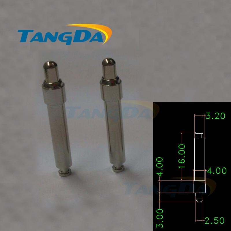 Tangda pogo pin connector D 4*23 Hmm spring high current Nickel plating pogopin copper Location pin new original copper high current 6000vac 0 06uf high frequency resonant capacitor 80k 80a