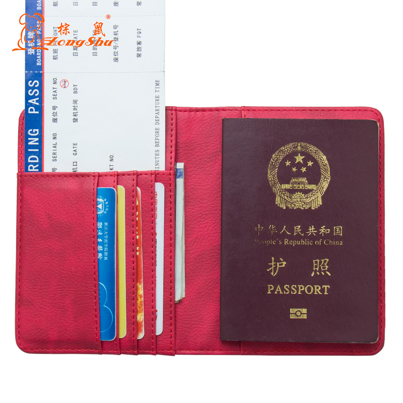 Card & Id Holders Cheap Price Russian Oil Gray Double-headed Eagle Convenient Pu Leather Passport Holder Built In Rfid Blocking Protect Personal Information