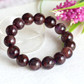 Natural Genuine Purple Red Crystal Auralite Super-23 Finish Stretch Men Bracelet Round Big Beads 15mm 04329