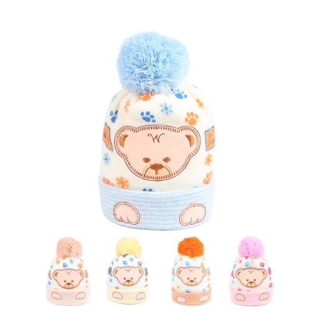 Cartoon Bär Baby Hut Für Neugeborene Häkeln Muster Baumwolle Beanie ...