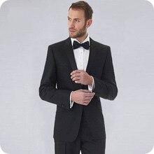 Black Men Suits Wedding Suits Bridegroom Groom Wear Formal Tuxedo Prom Man Blazer Costume Homme Slim Fit Terno Masculino 2Piece