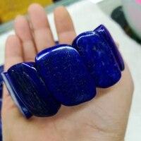 Оптовая продажа! 30 набор! Натуральный Лапис камень лазурит браслет с натуральным драгоценным камнем ювелирный браслет сделай сам женщину д