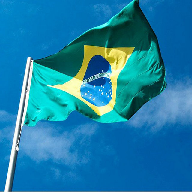 brazil flag polyester flag banner for festival home decoration super
