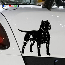 HotMeiNi Car Sticker Jdm styling Window Bumper Truck Body Decals Animal Pit Bull American Staffordshire Terrier Dog 13.5*15.1CM hotmeini car sticker jdm styling window bumper truck body decals animal pit bull american staffordshire terrier dog 13 5 15 1cm