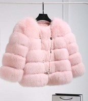 חורף אופנה חדשה פינק פו אלגנטית מעיל פרווה עבה חם מוצרי הלבשה תחתונה מעיל פרווה מזויף Chaquetas Mujer מינק מעילי נשים