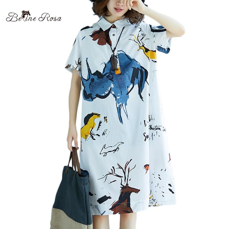 c20903247c301 Pas cher BelineRosa Style décontracté européen mode dames vêtements d'été à  manches courtes impression