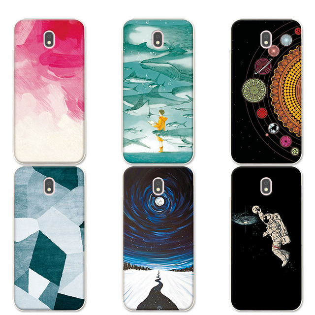 newest d623a 108f7 US $1.1 25% OFF|For Samsung Galaxy J5 2017 J530 J5 Pro 2017 Couple Phone  Case Universe Planets Silicone Cover Coque For Samsung J5 2017 (Europe)-in  ...