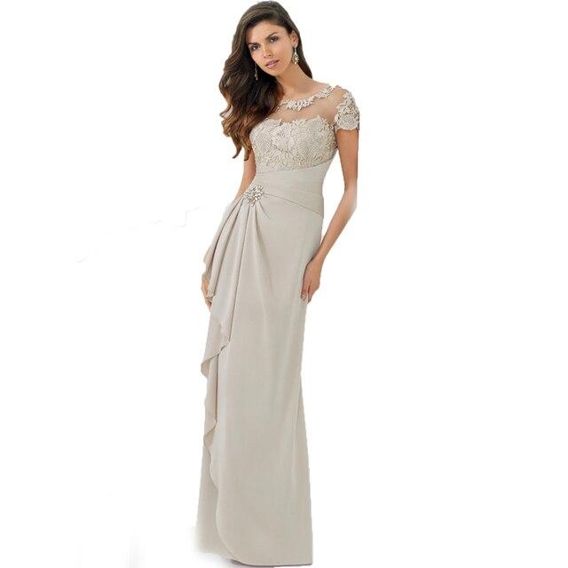 Vestito da sera Taffettà bianco e Nero Elegante Madre della Sposa Lungo di  Applique Del Merletto ... 22db8839033
