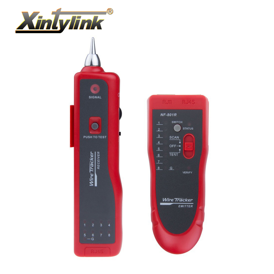 Xintylink ネットワークケーブルテスター赤 rj11 rj12 rj45 cat5 cat6 cat7 電話ワイヤートライーサネット lan 検出器ラインファインダー  グループ上の ツール からの 信号発生器 の中 1