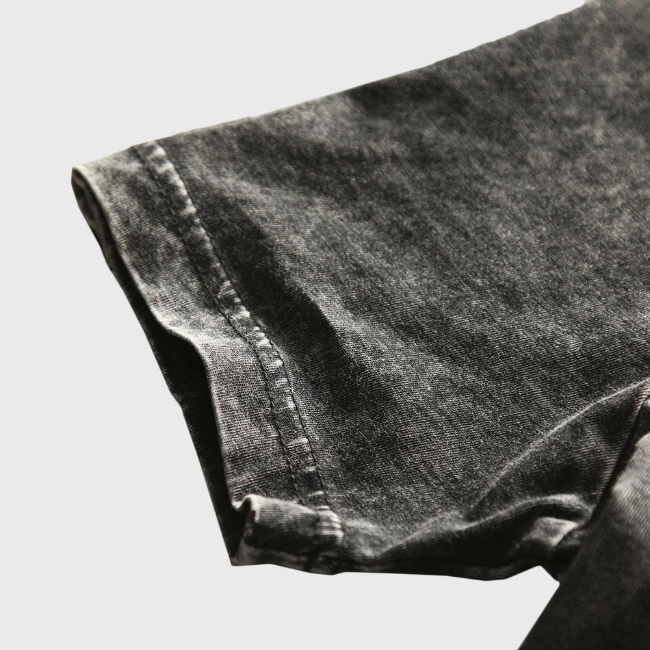Zecmos Vintage Black T-Shirt Mænd Kina Størrelse Fashion Heavy - Herretøj - Foto 4