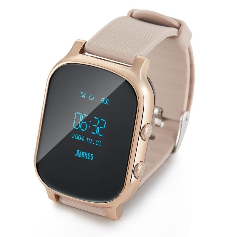 ФОТО T58 kids smart watch tracker for child girl boy gps bracelet google map sos button bracelet personal tracker gsm locator PK Q50