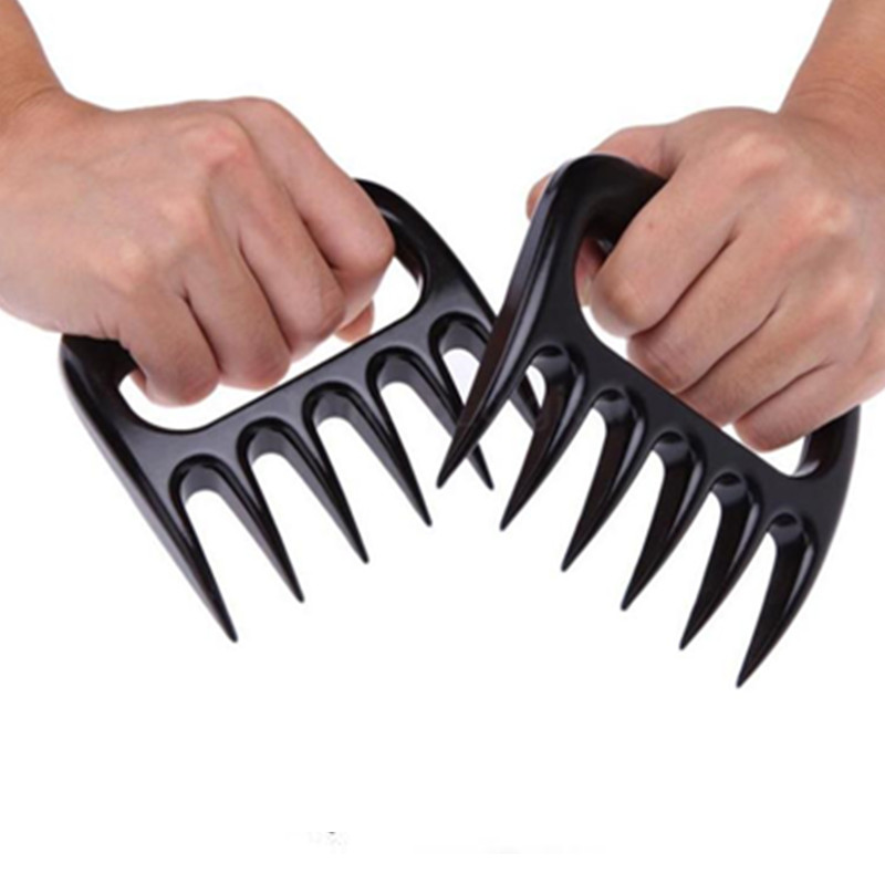 1 Pair Bear Claws Shape BBQ Fork Barbecue Tongs Tearing Meat Tools Kitchen Accessories