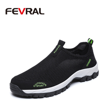 FEVRAL marka gorąca sprzedaż oddychające buty do jazdy moda trampki modne buty casualowe siatki miękkie płaskie buty leniwe antypoślizgowe obuwie męskie