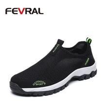 FEVRAL marque offre spéciale respirant conduite chaussures mode baskets chaussures de mode décontractée maille doux appartements paresseux antidérapant chaussures hommes