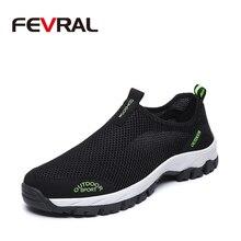 Бренд FEVRAL Лидер продаж, дышащая обувь для вождения, модные кроссовки, Повседневная модная обувь, сетчатая мягкая обувь на плоской подошве, нескользящая обувь для мужчин