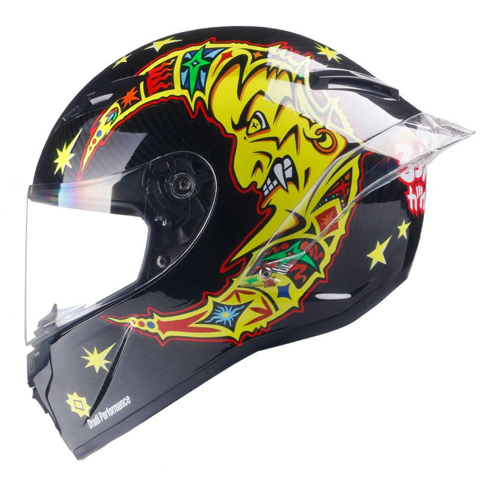 Полнолицевой мотоциклетный шлем для гонок шлем в горошек Сертифицированный шлем для мотокросса бездорожья Kask Casco De Moto Motociclista