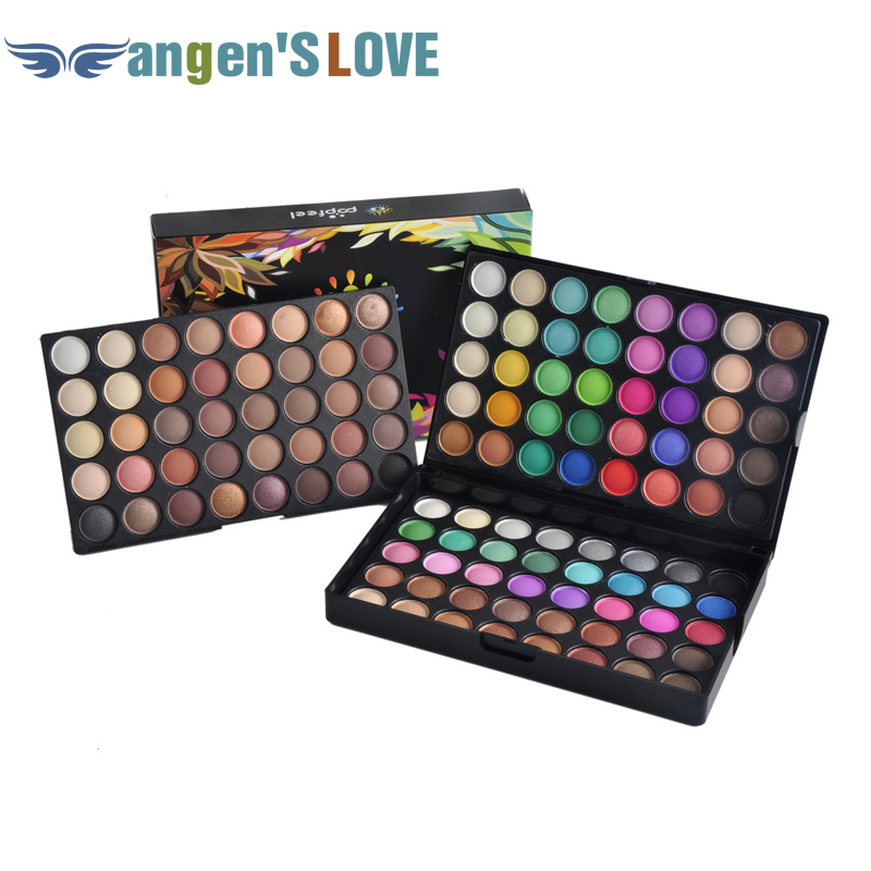 Popfeel Beauty 120 Colors Cosmetic Powder Eyeshadow Palette Makeup Set Matte <font><b>Nude</b></font> Eyeshadow