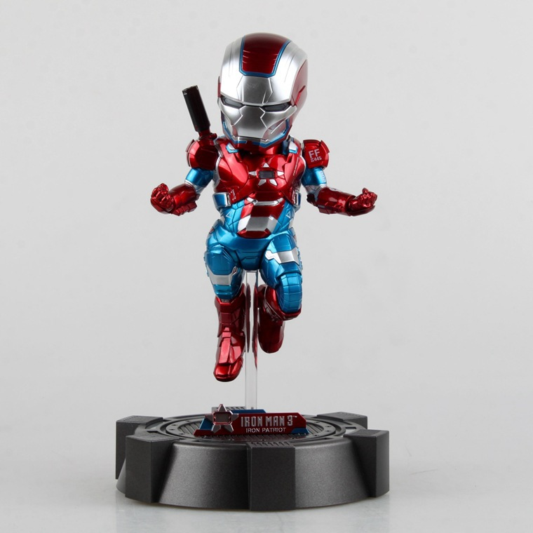 23CM Egg Attack Iron Man 3 Mark 42 Red Captain America PVC Action Figure Gift Collectible Model Kids Toys Avengers hand to do marvel avengers chess captain america pvc action figure collectible model toy 15cm hrfg462