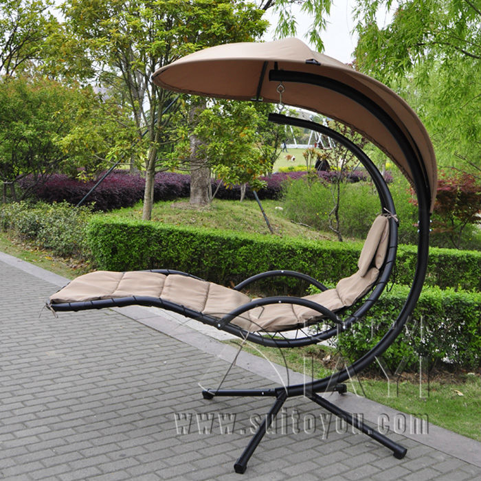 Hanging Chaise Lounger Chair Arc Stand Air Porch Swing Hammock Chair Canopy Стол