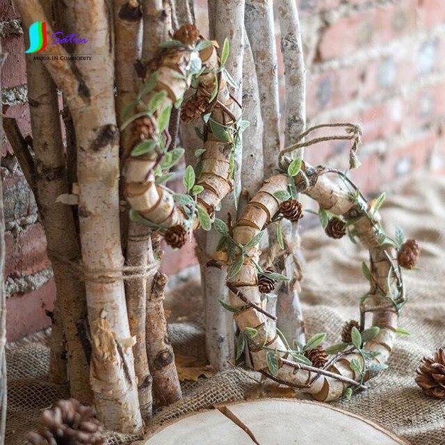Diy Handmade Tree Wreath Wicker Branches Birch Wreath Solid Wood