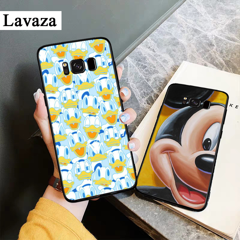 Lavaza Mickey Mouse and Donald Duck Silicone Case for Samsung S6 Edge S7 S8 Plus S9 S10 S10e Note 8 9 10 M10 M20 M30 M40 in Fitted Cases from Cellphones Telecommunications