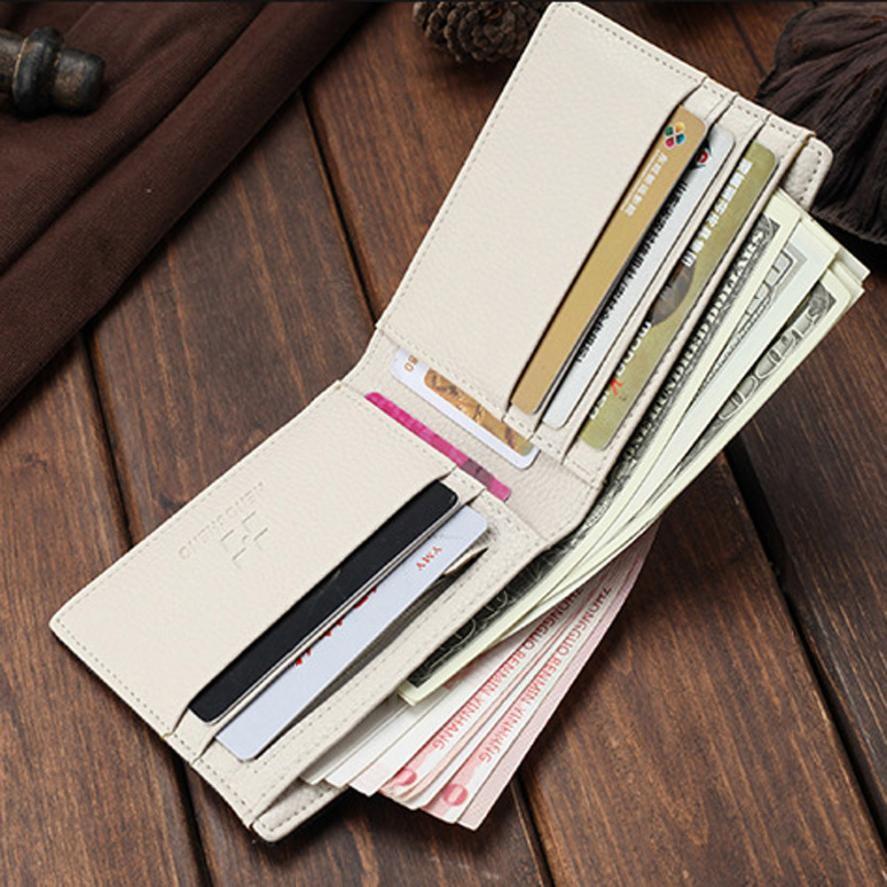 Wallet Men Blocking Short Denim Purse Fashion Short Design Slim Bi-Fold Flip Wallet Gift ID Credit Card Holder Carteras #Y
