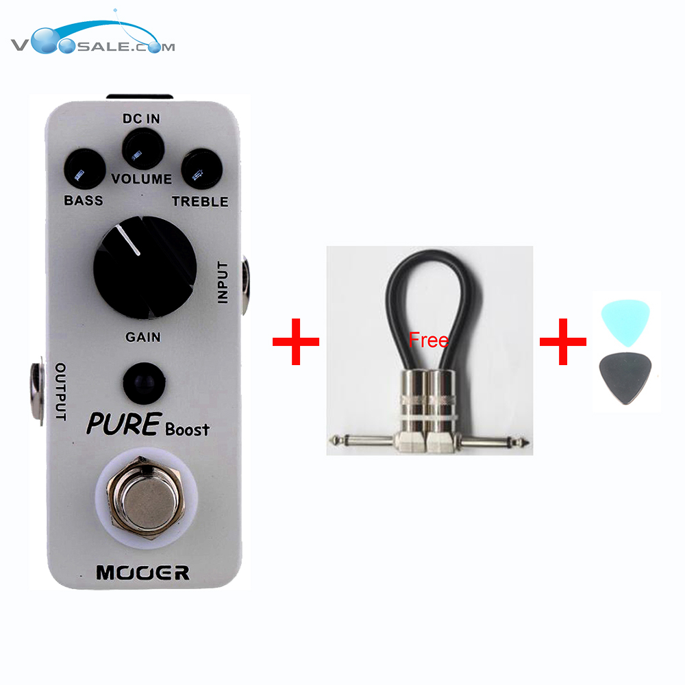 Mooer Pure Boost Clean Booster Electric Guitar Effect Pedal Nice Embellishing Of Original Tone True Bypass + Free Cable diy booster boost clean guitar effect pedal boost true bypass booster kits fp