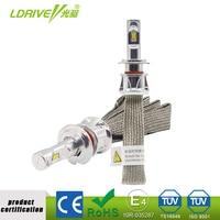 LDRIVE 3000K 4300K 6000K Tri Color Free Switching Car Headlight H7 48W 4800LM LED Bulb H11