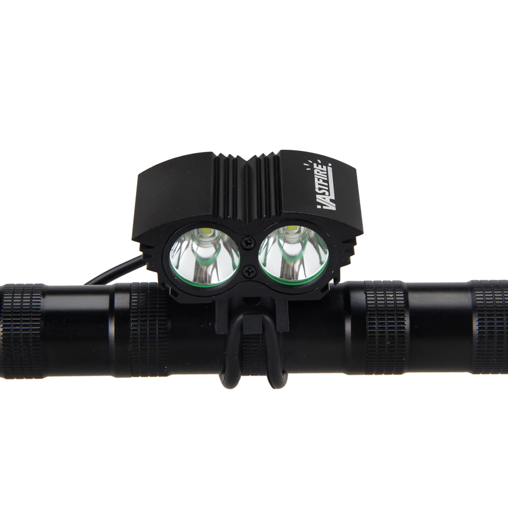 Aluminum Bike Lights 6000LM 2X XML U3 LED Front Cycling Lamp Bicycle Headlight Only Lamp No Battery