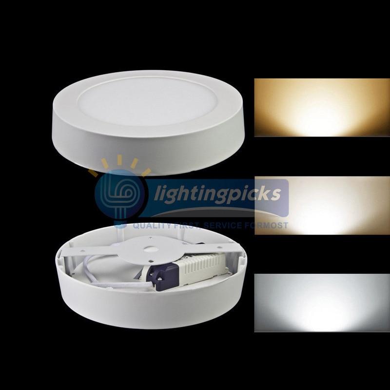 9 Вт/15 Вт/21 Вт круглый/Квадратный светодиодный панельный светильник поверхностного монтажа вниз светильник ing Led потолочный светильник вниз AC 110-240 В+ Драйвер