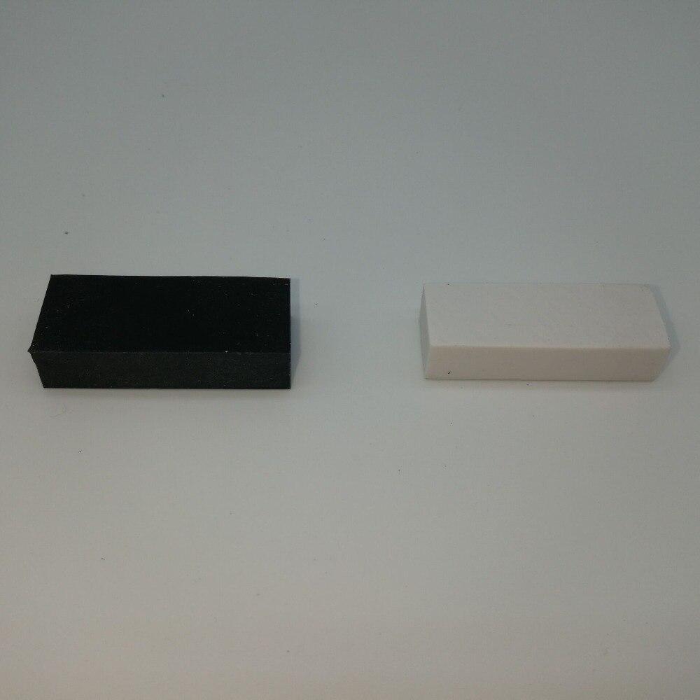 Купить с кэшбэком 8 PCS Black and White Rubber Eraser Student Pencil Eraser New School Supplies Stationery Discount  Free Animal Eraser Gift