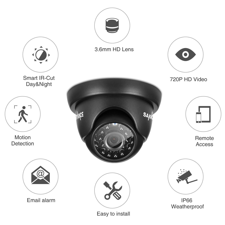 САННЦЕ ХД 8ЦХ ЦЦТВ систем 720П ДВР 6ПЦС - Безбедност и заштита - Фотографија 3