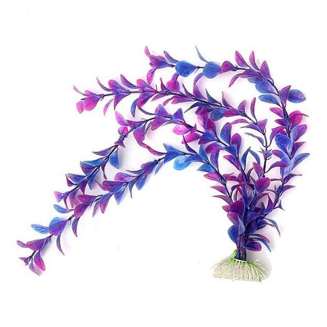 Artificial Purple Plastic Plants Aquarium Fish Tank Artificial Grass Aquarium Decoration For Fish's grass viewing decorations