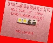 PARA Mantenimiento de Pioneer Sanyo montado botón lente con barra de luz led de retroiluminación LCD TV 3030 3 V granos de la lámpara