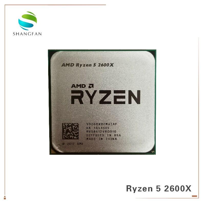AMD Ryzen 5 2600X R5 2600X3.6 GHz Six-Core Doze-Thread YD260XBCM6IAF 95W Processador CPU tomada AM4